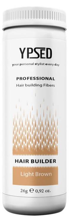 Камуфляж для волос Ypsed Professional Light brown (светло-коричневый), 26 г157509Кератиновый камуфляж (загуститель) волос YPSED серия Professional (light brown/светло-коричневый) – инновационный продукт в области загустителей волос и камуфляжа участков поредения. Доведенная до совершенства формула сохранила все преимущества предшественников. Высокотехнологичные кератиновые волокна, состоящие из натурального кератина, нарезанные и обработанные таким образом, что они незаметно смешиваются с волосами, визуально увеличивая густоту и объем. Принципиальные отличия: отсутствие комков, т.к. волокна созданы из высокотехнологичных соединений, отсутствует эффект грязных волос. Используя загуститель, достаточно просто превратить жидкие прядки в густую шевелюру. Средство отлично маскирует проплешины, рубцы на коже, редкие проборы, небольшие залысины. Продукт выпускается в разных оттенках, поэтому подобрать загуститель можно к любому натуральному цвету волос. Волосы обладают статическим электричеством, за счет этого волокна беспорядочно прилепляются к волосам, зрительно делая их гуще. Достаточно покрыть средством голову и через 10 секунд оценить результат: проблемных зон не будет видно. Плюсом сухого загустителя является то, что это очень быстрый и наипростейший способ скрыть дефект прически, средство можно взять с собой в поездку и пользоваться им в любых обстоятельствах. Волокна достаточно хорошо прикрепляются к волосам, но все же специалисты рекомендуют дополнительно применять фиксирующие средства (лак для волос), чтобы еще сильнее закрепить загуститель. Подходит для применения как мужчинам так и женщинам, помогает в любой ситуации выглядеть достойно и чувствовать себя уверенно. Рекомендованное количество для единоразового использования - 0,5гр. Упаковка - баночка с дозатором (мини-сито) 26гр.