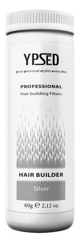 Камуфляж для волос Ypsed Professional Silver (серебро), 60 г211085Кератиновый камуфляж (загуститель) волос YPSED серия Professional (silver/серебро) – инновационный продукт в области загустителей волос и камуфляжа участков поредения. Доведенная до совершенства формула сохранила все преимущества предшественников. Высокотехнологичные кератиновые волокна, состоящие из натурального кератина, нарезанные и обработанные таким образом, что они незаметно смешиваются с волосами, визуально увеличивая густоту и объем. Принципиальные отличия: отсутствие комков, т.к. волокна созданы из высокотехнологичных соединений, отсутствует эффект грязных волос. Используя загуститель, достаточно просто превратить жидкие прядки в густую шевелюру. Средство отлично маскирует проплешины, рубцы на коже, редкие проборы, небольшие залысины. Продукт выпускается в разных оттенках, поэтому подобрать загуститель можно к любому натуральному цвету волос. Волосы обладают статическим электричеством, за счет этого волокна беспорядочно прилепляются к волосам, зрительно делая их гуще. Достаточно покрыть средством голову и через 10 секунд оценить результат: проблемных зон не будет видно. Плюсом сухого загустителя является то, что это очень быстрый и наипростейший способ скрыть дефект прически, средство можно взять с собой в поездку и пользоваться им в любых обстоятельствах. Волокна достаточно хорошо прикрепляются к волосам, но все же специалисты рекомендуют дополнительно применять фиксирующие средства (лак для волос), чтобы еще сильнее закрепить загуститель. Подходит для применения как мужчинам так и женщинам, помогает в любой ситуации выглядеть достойно и чувствовать себя уверенно. Рекомендованное количество для единоразового использования - 0,5гр. Упаковка - баночка с дозатором (мини-сито) 60гр.