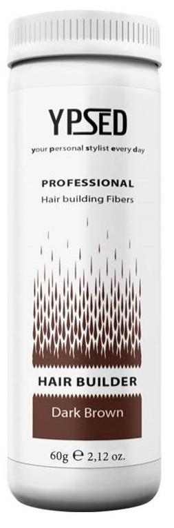 Камуфляж для волос Ypsed Professional Dark brown (темно-коричневый), 60 г211108Кератиновый камуфляж (загуститель) волос YPSED серия Professional (dark brown/темно-коричневый) – инновационный продукт в области загустителей волос и камуфляжа участков поредения. Доведенная до совершенства формула сохранила все преимущества предшественников. Высокотехнологичные кератиновые волокна, состоящие из натурального кератина, нарезанные и обработанные таким образом, что они незаметно смешиваются с волосами, визуально увеличивая густоту и объем. Принципиальные отличия: отсутствие комков, т.к. волокна созданы из высокотехнологичных соединений, отсутствует эффект грязных волос. Используя загуститель, достаточно просто превратить жидкие прядки в густую шевелюру. Средство отлично маскирует проплешины, рубцы на коже, редкие проборы, небольшие залысины. Продукт выпускается в разных оттенках, поэтому подобрать загуститель можно к любому натуральному цвету волос. Волосы обладают статическим электричеством, за счет этого волокна беспорядочно прилепляются к волосам, зрительно делая их гуще. Достаточно покрыть средством голову и через 10 секунд оценить результат: проблемных зон не будет видно. Плюсом сухого загустителя является то, что это очень быстрый и наипростейший способ скрыть дефект прически, средство можно взять с собой в поездку и пользоваться им в любых обстоятельствах. Волокна достаточно хорошо прикрепляются к волосам, но все же специалисты рекомендуют дополнительно применять фиксирующие средства (лак для волос), чтобы еще сильнее закрепить загуститель. Подходит для применения как мужчинам так и женщинам, помогает в любой ситуации выглядеть достойно и чувствовать себя уверенно. Рекомендованное количество для единоразового использования - 0,5гр. Упаковка - баночка с дозатором (мини-сито) 60гр.