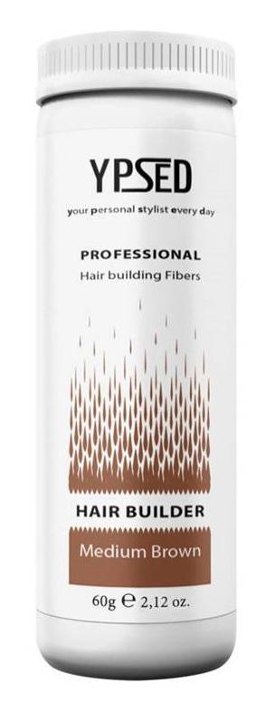 Камуфляж для волос Ypsed Professional Мedium brown (средне-коричневый), 60 г211115Кератиновый камуфляж (загуститель) волос YPSED серия Professional (medium brown/средне-коричневый) – инновационный продукт в области загустителей волос и камуфляжа участков поредения. Доведенная до совершенства формула сохранила все преимущества предшественников. Высокотехнологичные кератиновые волокна, состоящие из натурального кератина, нарезанные и обработанные таким образом, что они незаметно смешиваются с волосами, визуально увеличивая густоту и объем. Принципиальные отличия: отсутствие комков, т.к. волокна созданы из высокотехнологичных соединений, отсутствует эффект грязных волос. Используя загуститель, достаточно просто превратить жидкие прядки в густую шевелюру. Средство отлично маскирует проплешины, рубцы на коже, редкие проборы, небольшие залысины. Продукт выпускается в разных оттенках, поэтому подобрать загуститель можно к любому натуральному цвету волос. Волосы обладают статическим электричеством, за счет этого волокна беспорядочно прилепляются к волосам, зрительно делая их гуще. Достаточно покрыть средством голову и через 10 секунд оценить результат: проблемных зон не будет видно. Плюсом сухого загустителя является то, что это очень быстрый и наипростейший способ скрыть дефект прически, средство можно взять с собой в поездку и пользоваться им в любых обстоятельствах. Волокна достаточно хорошо прикрепляются к волосам, но все же специалисты рекомендуют дополнительно применять фиксирующие средства (лак для волос), чтобы еще сильнее закрепить загуститель. Подходит для применения как мужчинам так и женщинам, помогает в любой ситуации выглядеть достойно и чувствовать себя уверенно. Рекомендованное количество для единоразового использования - 0,5гр. Упаковка - баночка с дозатором (мини-сито) 60гр.