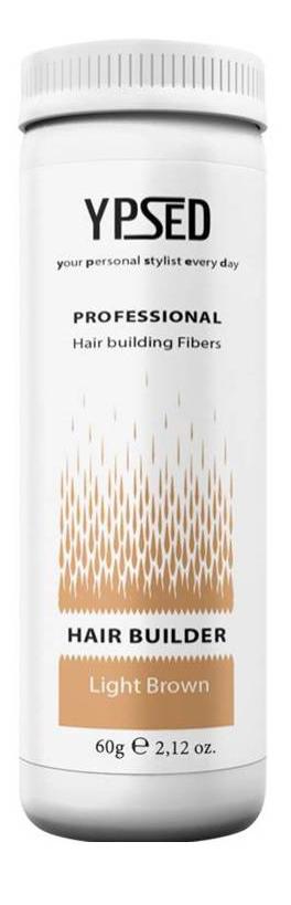 Камуфляж для волос Ypsed Professional Light brown (светло-коричневый), 60 г211122Кератиновый камуфляж (загуститель) волос YPSED серия Professional (light brown/светло-коричневый) – инновационный продукт в области загустителей волос и камуфляжа участков поредения. Доведенная до совершенства формула сохранила все преимущества предшественников. Высокотехнологичные кератиновые волокна, состоящие из натурального кератина, нарезанные и обработанные таким образом, что они незаметно смешиваются с волосами, визуально увеличивая густоту и объем. Принципиальные отличия: отсутствие комков, т.к. волокна созданы из высокотехнологичных соединений, отсутствует эффект грязных волос. Используя загуститель, достаточно просто превратить жидкие прядки в густую шевелюру. Средство отлично маскирует проплешины, рубцы на коже, редкие проборы, небольшие залысины. Продукт выпускается в разных оттенках, поэтому подобрать загуститель можно к любому натуральному цвету волос. Волосы обладают статическим электричеством, за счет этого волокна беспорядочно прилепляются к волосам, зрительно делая их гуще. Достаточно покрыть средством голову и через 10 секунд оценить результат: проблемных зон не будет видно. Плюсом сухого загустителя является то, что это очень быстрый и наипростейший способ скрыть дефект прически, средство можно взять с собой в поездку и пользоваться им в любых обстоятельствах. Волокна достаточно хорошо прикрепляются к волосам, но все же специалисты рекомендуют дополнительно применять фиксирующие средства (лак для волос), чтобы еще сильнее закрепить загуститель. Подходит для применения как мужчинам так и женщинам, помогает в любой ситуации выглядеть достойно и чувствовать себя уверенно. Рекомендованное количество для единоразового использования - 0,5гр. Упаковка - баночка с дозатором (мини-сито) 60гр.