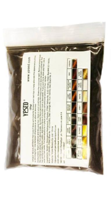 Камуфляж для волос Ypsed Regular Dark brown (темно-коричневый), refill 25 г211146Кератиновый камуфляж (загуститель) волос YPSED серия Regular (dark brown/темно-коричневый) – это высокотехнологичные кератиновые волокна, состоящие из натурального кератина, нарезанные и обработанные таким образом, что они незаметно смешиваются с волосами, визуально увеличивая густоту и объем. Используя загуститель, достаточно просто превратить жидкие прядки в густую шевелюру. Средство отлично маскирует проплешины, рубцы на коже, редкие проборы, небольшие залысины. Продукт выпускается в разных оттенках, поэтому подобрать загуститель можно к любому натуральному цвету волос. Волосы обладают статическим электричеством, за счет этого волокна беспорядочно прилепляются к волосам, зрительно делая их гуще. Достаточно покрыть средством голову и через 10 секунд оценить результат: проблемных зон не будет видно. Плюсом сухого загустителя является то, что это очень быстрый и наипростейший способ скрыть дефект прически, средство можно взять с собой в поездку и пользоваться им в любых обстоятельствах. Волокна достаточно хорошо прикрепляются к волосам, но все же специалисты рекомендуют дополнительно применять фиксирующие средства (лак для волос), чтобы еще сильнее закрепить загуститель. Подходит для применения как мужчинам так и женщинам, помогает в любой ситуации выглядеть достойно и чувствовать себя уверенно. Рекомендованное количество для единоразового использования - 0,5гр. Упаковка - сменный блок 25гр. полиэтиленовый, без дозатора. Средство пересыпается в старую упаковку для удобства нанесения.
