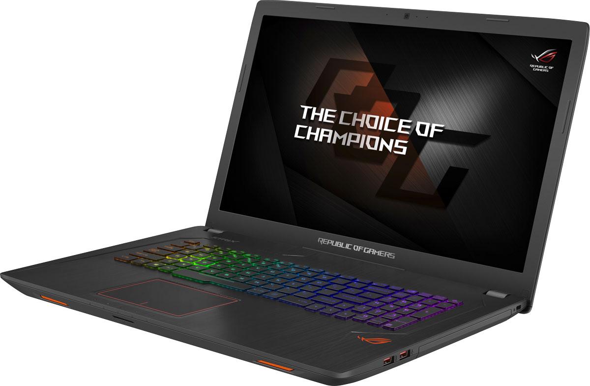ASUS ROG GL753VD (GL753VD-GC281T)GL753VD-GC281TASUS ROG GL753VD - это новейший геймерский ноутбук, который справится с самыми современными играми.GeForce GTX 1050 - это современный графический процессор, способный справиться с самыми требовательными компьютерными играми. Новая микроархитектура NVIDIA Pascal наделяет его высокой производительностью, а поддержка самых современных технологий максимально расширяет его функциональность.Клавиатура ноутбука оптимизирована специально для геймеров, поэтому группа клавиш WASD, традиционно используемая для навигации в игре, ярко выделена. Прочная и эргономичная, эта клавиатура оснащается клавишами ножничного типа с оптимальным ходом (2,5 мм) и четырехзонной RGB-подсветкой, которая позволит с комфортом играть даже ночью. Для удобства игры пробел клавиатуры имеет увеличенную площадь, а клавиши навигации отделены от остальных.В ноутбуке ROG Strix GL753 реализована высокоэффективная система охлаждения Cooling Overboost с управляемой скоростью вращения вентиляторов. Она обеспечивает стабильную работу системы при любом уровне загрузки процессора.В ASUS ROG GL753VD используется высококачественная 17,3-дюймовая матрица с разрешением Full HD, чье матовое покрытие минимизирует раздражающие блики, а широкие углы обзора являются залогом точной цветопередачи.В ноутбуке ROG Strix GL753 может быть установлено до 32 гигабайт оперативной памяти DDR4, которая сочетает в себе высокую производительность с невероятно низким энергопотреблением.Компактный разъем USB Type-C имеет специальную конструкцию, которая позволяет подключать USB-кабель к устройству любой стороной.ASUS ROG GL753VD предлагает множество функций для организации онлайн-трансляций геймерских сессий с великолепным качеством звука и изображения. Микрофонный массив, реализованный в данном ноутбуке, наделен технологией фильтрации шумов для кристально чистой записи голоса.Программное обеспечение ROG Gaming Center - это комплексный центр управления всевозможными геймерскими функциями. С 