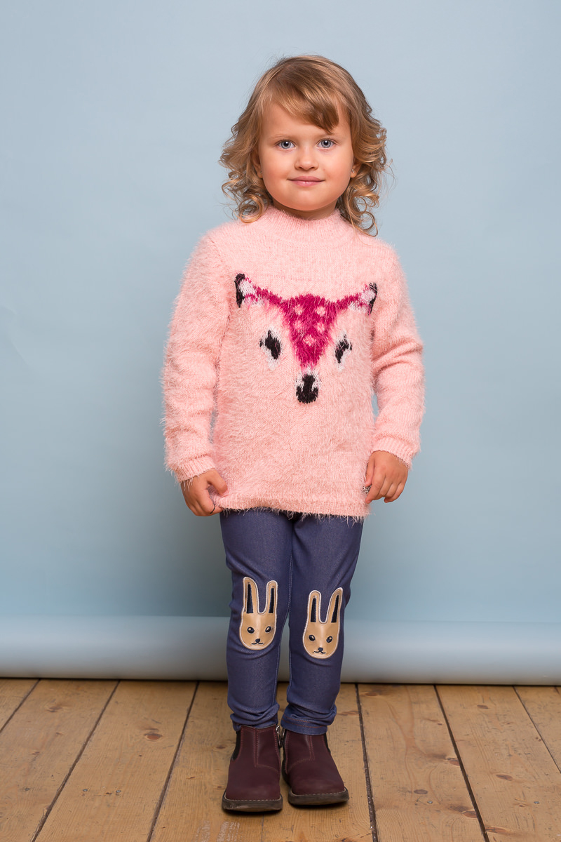 Свитер для девочки Sweet Berry Baby, цвет: светло-розовый. 732086. Размер 92732086Мягкий свитер для девочки Sweet Berry Baby выполнен из ворсовой пряжи травка. Модель с завышенной горловиной и длинными рукавами оформлена жаккардовым рисунком в виде олененка.