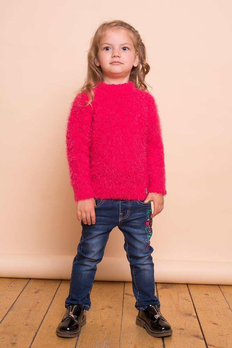 Свитер для девочки Sweet Berry Baby, цвет: фуксия. 732005. Размер 92732005Яркий мягкий свитер Sweet Berry Baby для девочки выполнен из пряжи букле. Модель с завышенной горловиной и длинными рукавами.