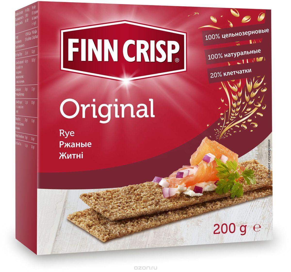 Finn Crisp Original хлебцы ржаные, 200 г