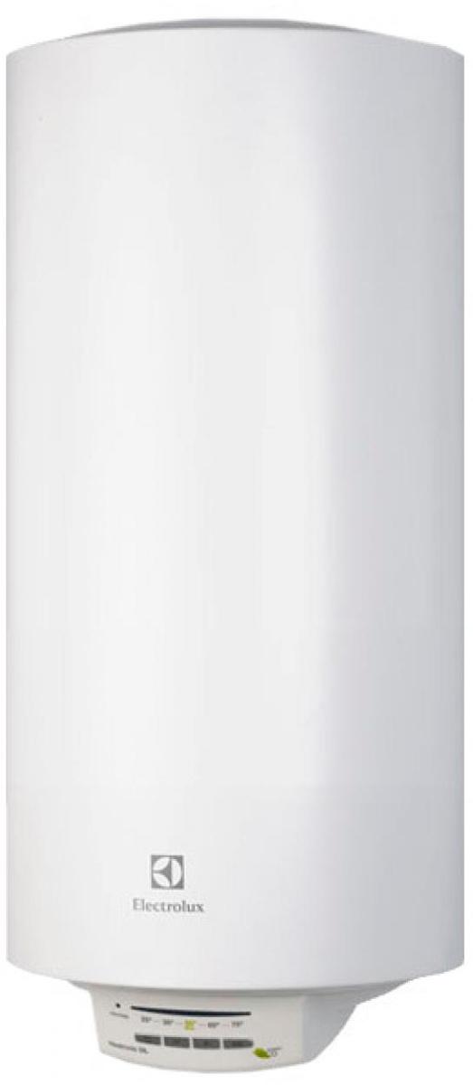 Electrolux EWH 30 Heatronic DL Slim DryHeat водонагреватель накопительныйEWH 30 Heatronic DL Slim DryHeatElectrolux EWH 30 Heatronic DL Slim DryHeat - электрический накопительный водонагреватель с эмалированным покрытием бака в круглом дизайне оборудован одним нагревательным элементом мощностью 1500 Вт.Система СУХИХ независимых ТЭНов – X-HEAT - это два независимых сухих нагревательных элемента, которые не имеют прямого контакта с водой. ТЭНы располагаются в специальных металлических кожухах, закрепленных на фланце в нижней части бака, что ограничивает образование накипи на ТЭНах. Независимая работа ТЭНов дает возможность водонагревателю продолжать работу в случае неисправности одного из них. Система X-Heat значительно увеличивает срок службы водонагревателя.На нижней крышке водонагревателя расположена электронная панель управления. На ней размещены кнопки, с помощью которых можно установить нужную температуру нагрева воды в диапазоне от 30 до 75°С. При выборе на панели управления функции экономного режима (положение ЕCO), вода будет нагреваться до температуры 55°С. При такой температуре повышается рабочий ресурс ТЭНа, происходит обеззараживание воды и практически не образуется накипь.В модели EWH 30 Heatronic DL Slim DryHeat реализована уникальная технология Multi memory, позволяющая программировать водонагреватель, устанавливая в его памяти до трех индивидуальных температур нагрева воды. Каждая из настроек запоминает любимую температуру пользователя, которую он может выбирать без дополнительных регулировок при помощи кнопки установки режимов. Настройки сохраняются даже при отключении электропитания. После возобновления подачи энергии водонагреватель продолжит нагрев до необходимой температуры.За многоуровневую защиту внутреннего бака от коррозии в модели EWH 30 Heatronic DL Slim DryHeat отвечает система Protect tank, которая включает в себя специальный высокопрочный сплав, стеклоэмаль, а также магниевый анод увеличенной массы. Кроме того, надежную работу водонагрев