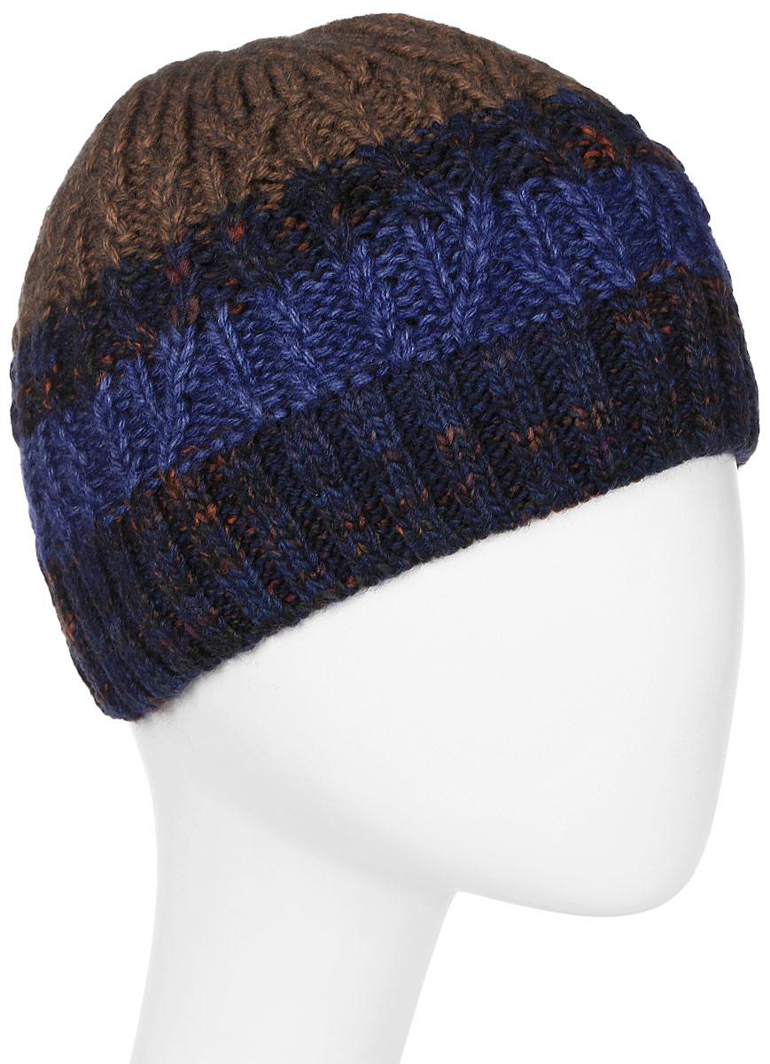 Шапка мужская Marhatter, цвет: синий. Размер 57/59. MMH6781/2MMH6781/2Отличная вязаная шапка в стиле сasual. Модель прекрасно подойдет активным молодым людям, ценящим комфорт и удобство. Идеальный вариант на каждый день.