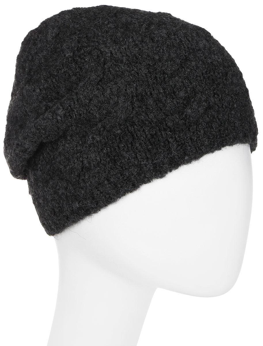 Шапка женская Snezhna, цвет: темно-серый. SWH7131/2. Размер 56/58SWH7131/2Стильная шапка Snezhna, выполнена из высококачественной пряжи. Модель очень актуальна для тех, кто ценит комфорт, стиль и красоту. Отличный вариант на каждый день.Уважаемые клиенты!Размер, доступный для заказа, является обхватом головы.