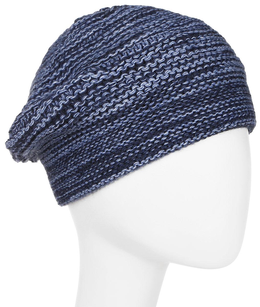 Шапка женская Elfrio, цвет: темно-синий. Размер 56/58. RWB6888/3RWB6888/3Отличная вязаная шапка Elfrio выполнена из акрила в стиле сasual. Модель прекрасно подойдет для женщин, ценящих комфорт и красоту. Незаменимая вещь на прохладную погоду.