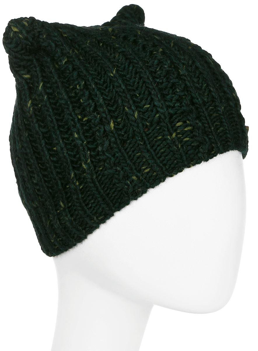 Шапка женская Marhatter, цвет: темно-зеленый. MWH7082/2. Размер 56/58MWH7082/2Модная шапка кошка в стиле Yeti. Модель отлично подойдет современным модницам, которые хотят проявить свою индивидуальность.
