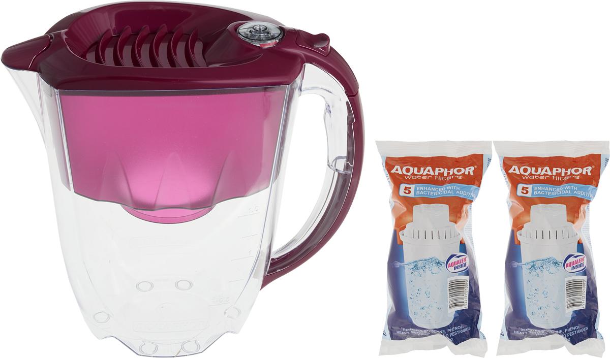 Фильтр-кувшин для воды Аквафор Престиж, цвет: рубин, вишневый, 2,8 л фильтр кувшин для воды аквафор стандарт цвет голубой прозрачный 2 5 л
