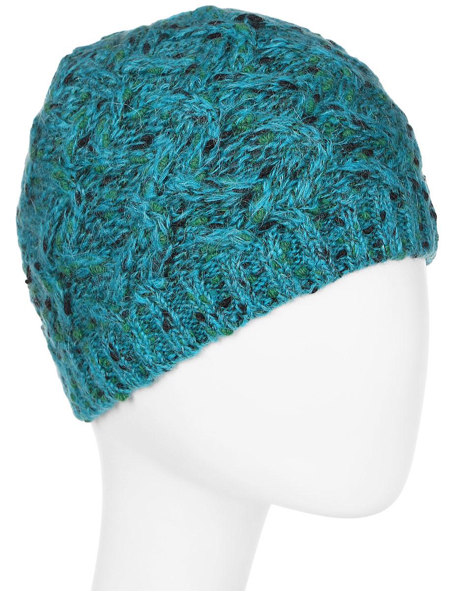 Шапка женская Snezhna, цвет: бирюзовый. Размер 56/58. SWH6750/2SWH6750/2Стильная шапка, выполнена из высококачественной пряжи. Модель очень актуальна для тех, кто ценит комфорт, стиль и красоту. Отличный вариант на каждый день.