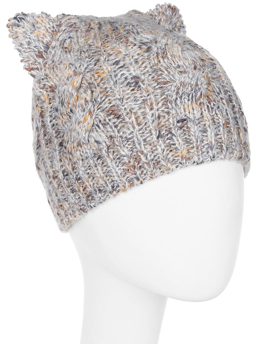 Шапка женская Marhatter, цвет: светло-серый. Размер 56/58. MWH7128/2MWH7128/2Стильная шапка добавит уникальность Вашему образу. Данная модель мягкая и комфортная на ощупь. Модель на полном флисе.