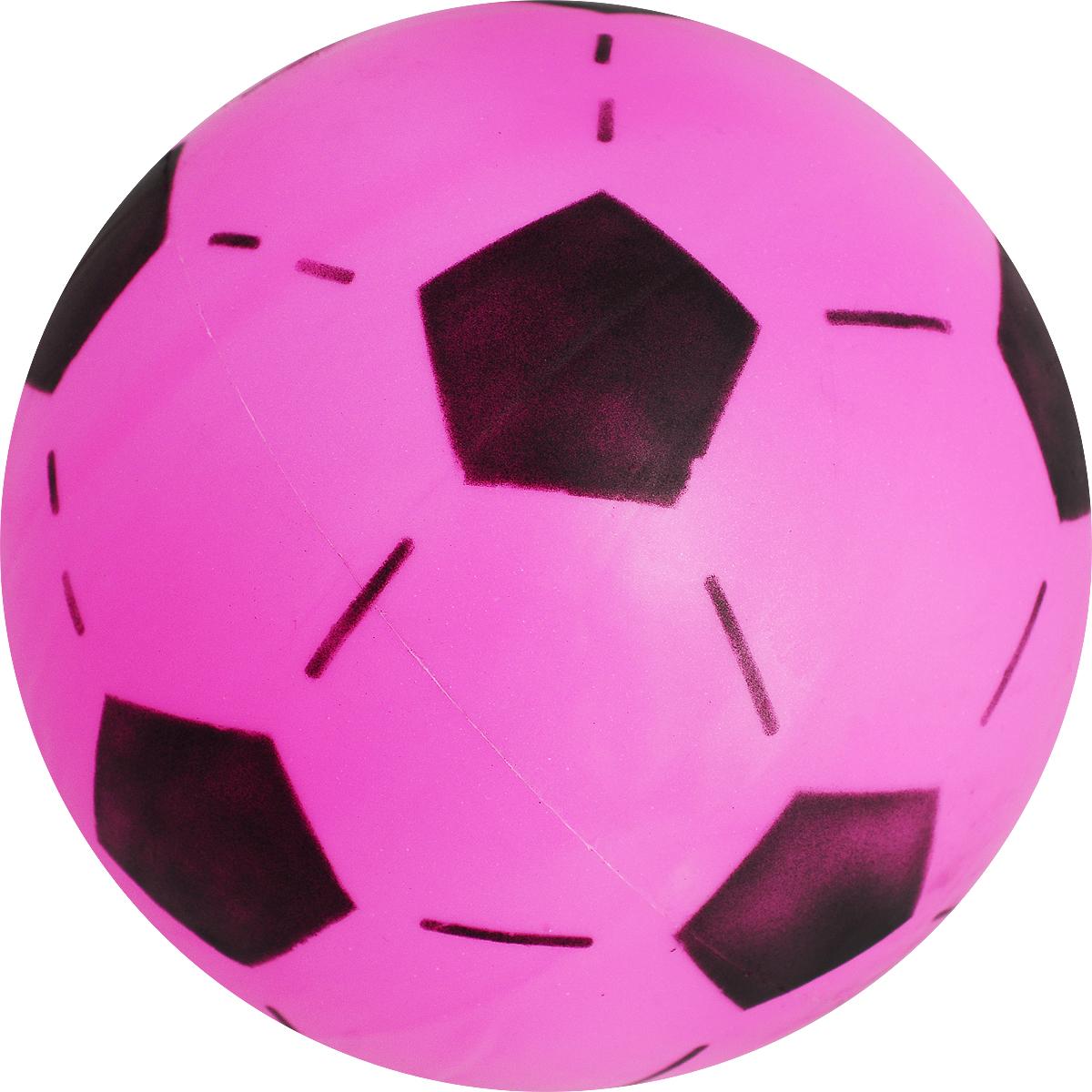 Забияка Мяч Футбольный цвет розовый 20 см