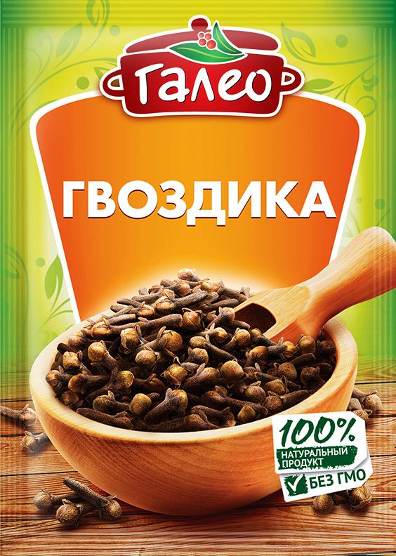Galeo гвоздика, 10 г901296631Пряность представляет собой сушеные бутоны сизигума ароматного - вечнозеленого дерева, культивируемого, главным образом, в Индонезии и на Мадагаскаре. Гвоздика обладает очень сильным запахом и пряным, слабожгучим вкусом. Оказывает диетическое воздействие: стимулирует пищеварение и усиливает аппетит. Гвоздику добавляют к сладким блюдам таким, как компоты, десерты, изделия из теста и фруктовые соусы. Это незаменимая добавка к ликерам, пуншу, горячему вину и пиву. Используется также в блюдах из грибов, свиного мяса, птицы, баранины, дичи и маринованной сельди. Обогащает вкус консервированных овощей.Приправы для 7 видов блюд: от мяса до десерта. Статья OZON Гид