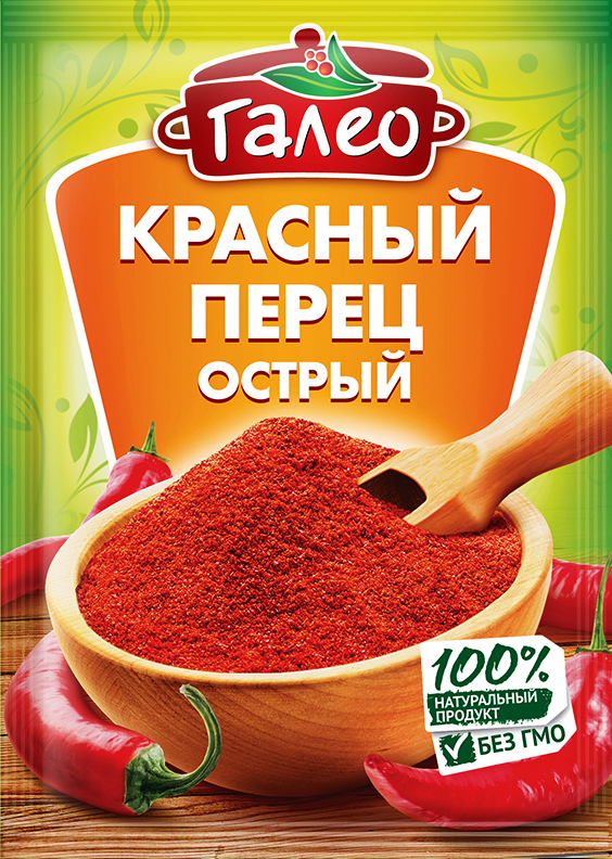 Galeo красный перец острый, 20 г901298628Обогащает вкус блюд из мяса, домашней птицы и рыбы. Добавляется также в супы, овощи, салаты, творог. Это популярный, ароматный пищевой краситель, отлично окрашивает соусы (например, майонезный и сметанный), а также блюда из яиц, риса и птицы. Это компонент повсеместно применяемых смешанных приправ.Приправы для 7 видов блюд: от мяса до десерта. Статья OZON Гид