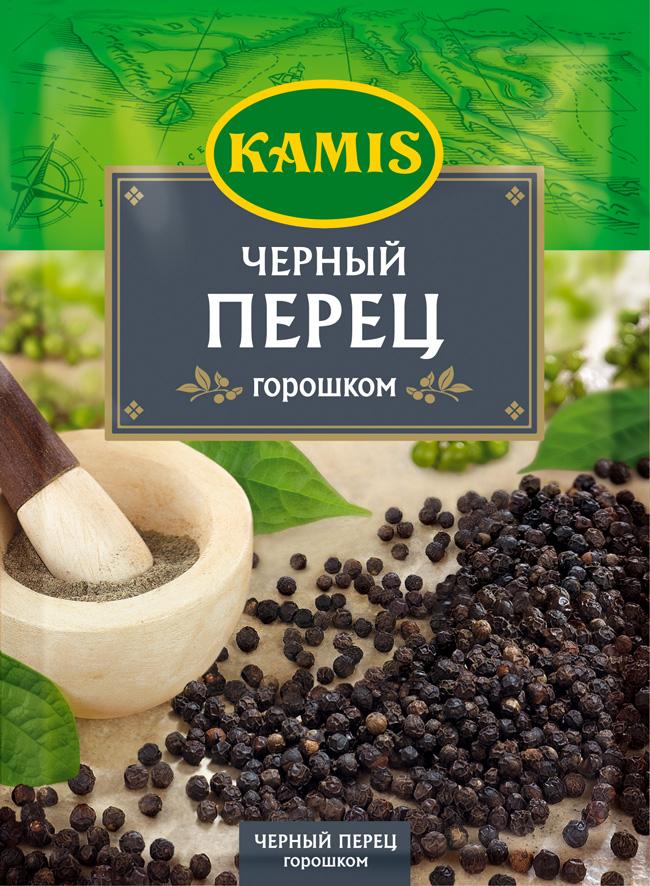 Kamis черный перец горошком, 20 гYA40-RВсегда чувствуется, когда еда приготовлена с любовью! Вдохновляйтесь продуктами Kamis, готовьте блюда, полные любви, и делитесь настоящими чувствами с самыми близкими.Черный перец горошком - это высушенные плоды тропического вьющегося растения. Черный перец часто называют королем пряностей. Аромат: теплый, древесный, с цитрусовыми и свежими нотами. Вкус: острый, жгучий.Приправы для 7 видов блюд: от мяса до десерта. Статья OZON Гид