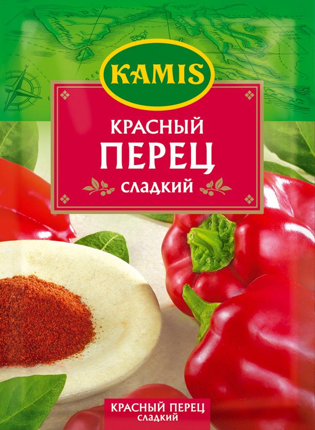 Kamis красный перец сладкий, 20 гYA43-RВсегда чувствуется, когда еда приготовлена с любовью! Вдохновляйтесь продуктами Kamis, готовьте блюда, полные любви, и делитесь настоящими чувствами с самыми близкими.Красный перец сладкий – это высушенные и измельченные плоды сладкого стручкового перца. Аромат: пряный, теплый, с овощными нотами. Вкус: сладковато-пряный, перечный, мягкий, мало острый.