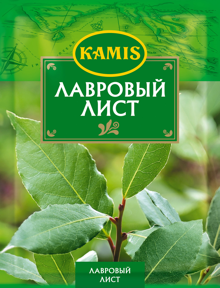 Kamis лавровый лист, 5 г kamis имбирь молотый 15 г