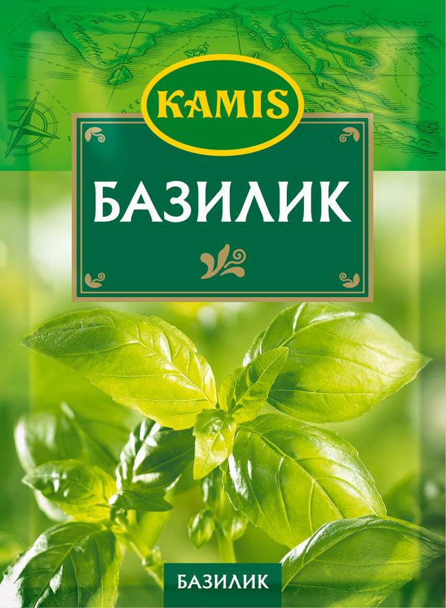 Kamis базилик, 10 гYA55-RВсегда чувствуется, когда еда приготовлена с любовью! Вдохновляйтесь продуктами Kamis, готовьте блюда, полные любви, и делитесь настоящими чувствами с самыми близкими.Базилик: высушенные и измельченные листья травянистого растения из семейства яснотковых. Аромат: тонкий, с легкими цветочными и свежими нотами. Вкус: горьковатый, кисловатый.Пищевая ценность (средние значения) 100 г продукта: белки - 21,2 г, жиры - 3,0 г, углеводы - 13,8 г