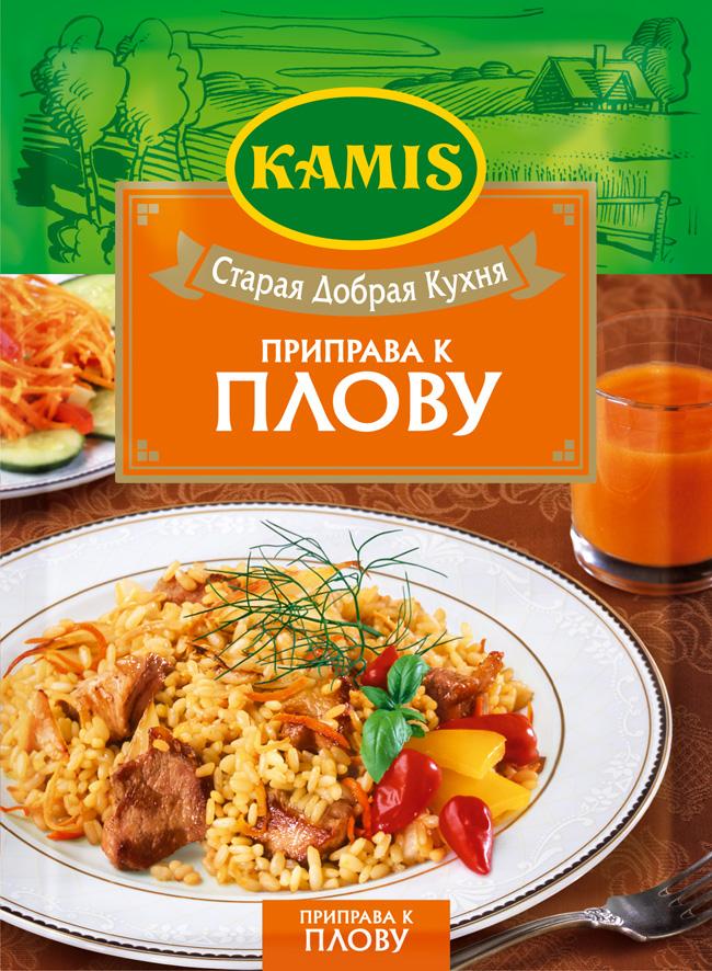 Kamis приправа к плову, 25 гYA94-RВсегда чувствуется, когда еда приготовлена с любовью! Вдохновляйтесь приправами Kamis, готовьте блюда, полные любви, и делитесь настоящими чувствами с самыми близкими.Приправа к плову Kamis – гармонично сбалансированная смесь c 18 травами, специями и овощами. Аромат: пряный, сладковатый, с оттенками куркумы, перца чили, кориандра и чеснока, с нотами ароматных трав и мускатного ореха. Вкус: богатый, пряный, умеренно острый.Пищевая ценность 100 г продукта: белки 11,3 г, жиры 8,4 г, углеводы 22,5 г.