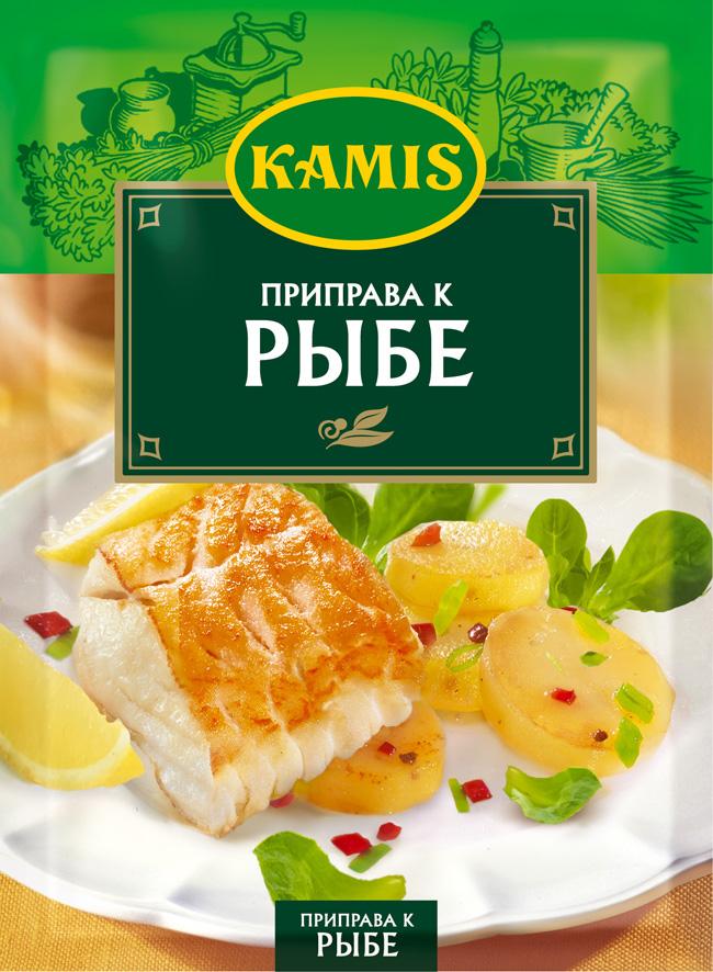 Kamis приправа к рыбе, 25 гYA11-RВсегда чувствуется, когда еда приготовлена с любовью! Вдохновляйтесь продуктами Kamis, готовьте блюда, полные любви, и делитесь настоящими чувствами с самыми близкими.Приправа к рыбе Kamis - это композиция с 7 травами, овощами и специями, которая придаст вашим рыбным блюдам неповторимый аромат и насыщенный вкус. Особенно хорошо оттеняет нежный вкус белой рыбы, а также рыбных блюд на пару. Подходит для рыбного фарша, начинок для пирогов и пасты с рыбой. Аромат: с оттенками чеснока, базилика, петрушки и легкой нотой имбиря. Вкус: слабо острый, мягкий, с выраженными нотами пряных трав и чеснока. Пищевая ценность 100 г продукта: белки 8,0 г, жиры 3,0 г, углеводы 33,8 г.Приправы для 7 видов блюд: от мяса до десерта. Статья OZON Гид
