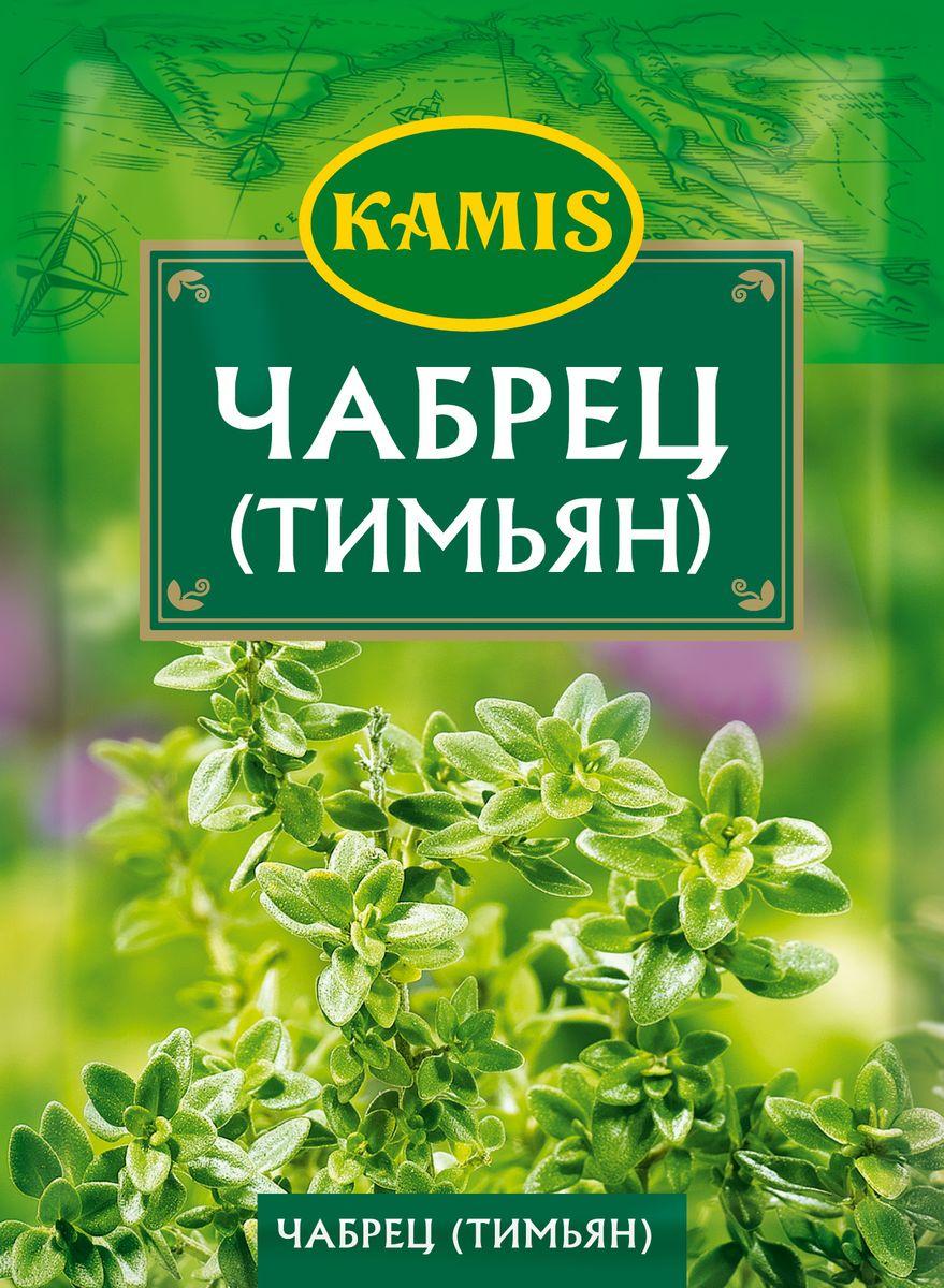 Kamis чабрец, 10 гYA57-RЧабрец (тимьян) - это высушенные и измельченные листья растения семейства яснотковых. Аромат: характерный, насыщенный, с легкими хвойными нотами. Вкус: пряный, слегка горьковатый. Пищевая ценность 100 г продукта: белки – 17,5 г, жиры – 2,3 г, углеводы – 18,8 г.