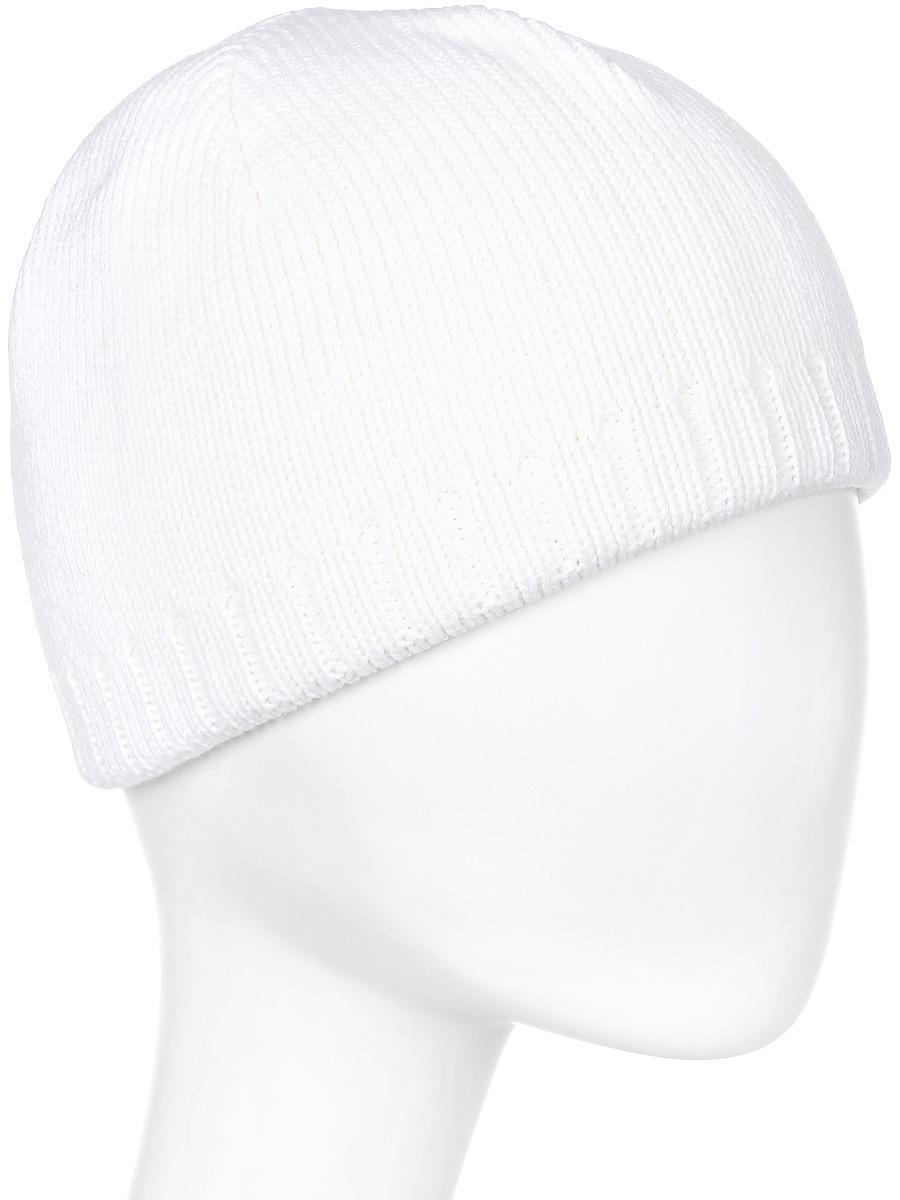 Шапка мужская Marhatter, цвет: белый. Размер 56/58. 36123612Стильная теплая шапка, выполненная из высококачественных материалов, станет для Вас незаменимой вещью. Будет хорошо смотреться не только со спортивной одеждой, но и с повседневной.