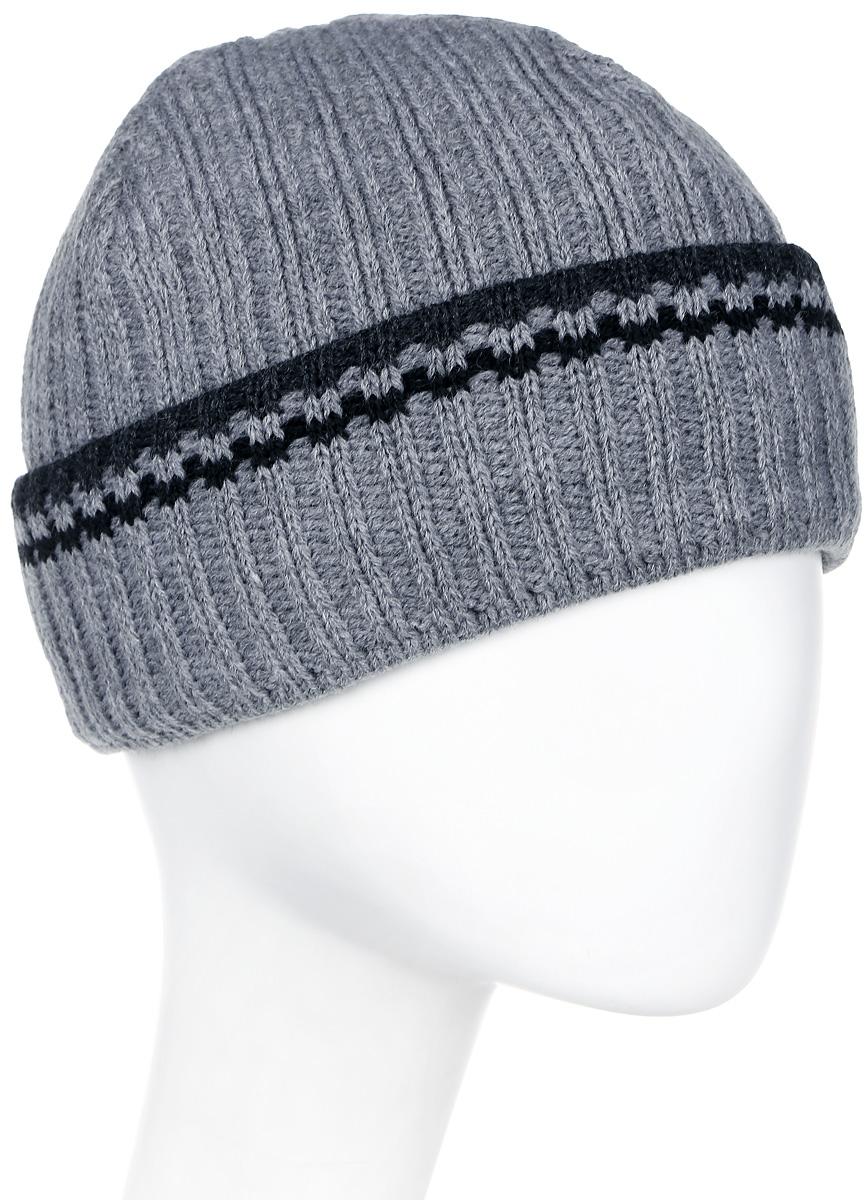 Шапка мужская Marhatter, цвет: серый. Размер 57/59. MMH5329/2MMH5329/2Замечательная теплая шапка, декорирована контрастным оригинальным рисунком. Модель идеально сидит по форме головы. Изделие прекрасно согреет вас в холодное время года.