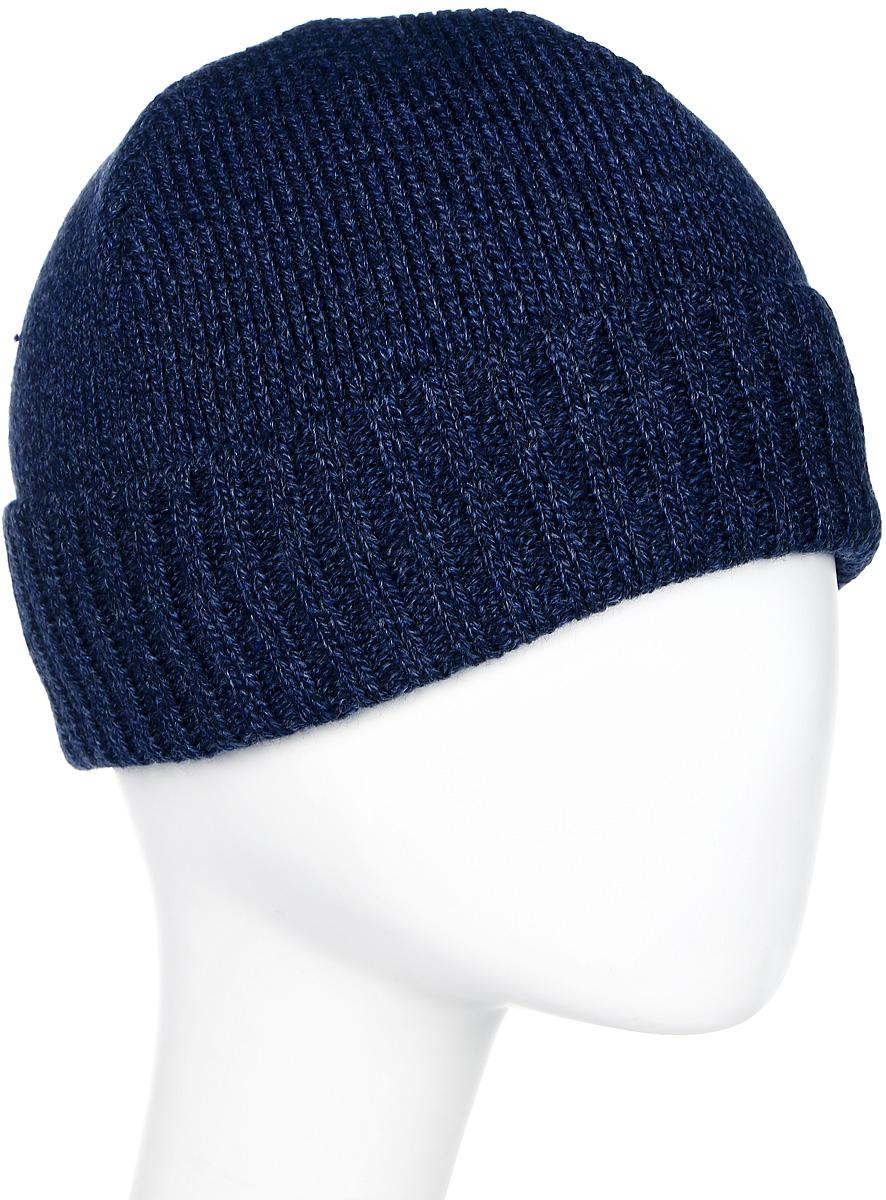 Шапка мужская Marhatter, цвет: темно-синий. Размер 56/58. 27182718Универсальная шапка, отлично подходит под любой стиль одежды. Сдержанный строгий дизайн, деликатная отделка и классические цвета.