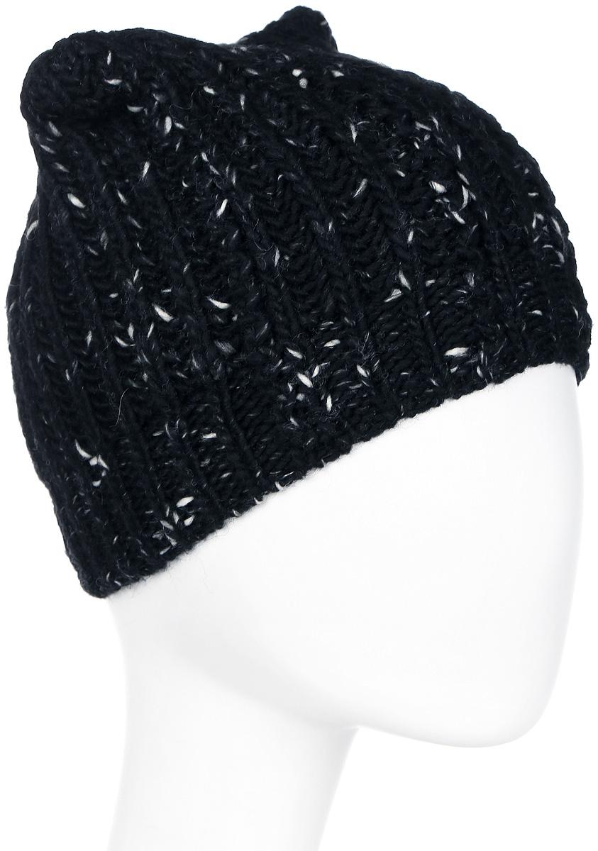 Шапка женская Marhatter, цвет: черный, белый. MWH7082/2. Размер 56/58MWH7082/2Модная шапка кошка в стиле Yeti. Модель отлично подойдет современным модницам, которые хотят проявить свою индивидуальность.