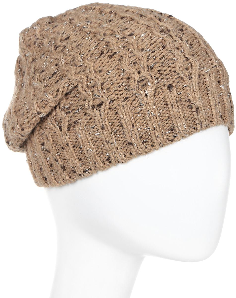 Шапка женская Marhatter, цвет: бежевый. Размер 56/58. MWH4949/2MWH4949/2Стильная шапка-колпак, выполнена из высококачественной пряжи. Модель очень актуальна для тех, кто ценит комфорт, стиль и красоту. Отличный вариант на каждый день.