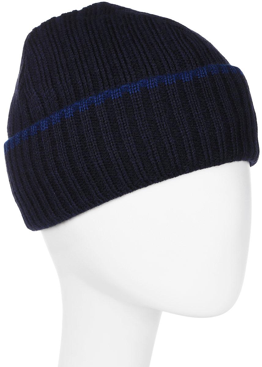 Шапка мужская Marhatter, цвет: темно-синий. Размер 56/58. 44914491Классическая шапка с отворотом на полном флисе. Теплый и красивый головной убор в стиле classic, подойдет и для спортивных мероприятий и для повседневной жизни.