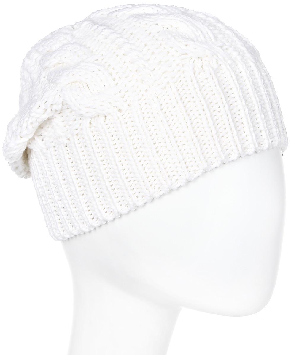 Шапка мужская Marhatter, цвет: белый. Размер 56/58. 40934093Отличная теплая шапка-колпак, дополненная стильным кожаной петлей. Будет хорошо смотреться не только со спортивной одеждой, но и с повседневной.