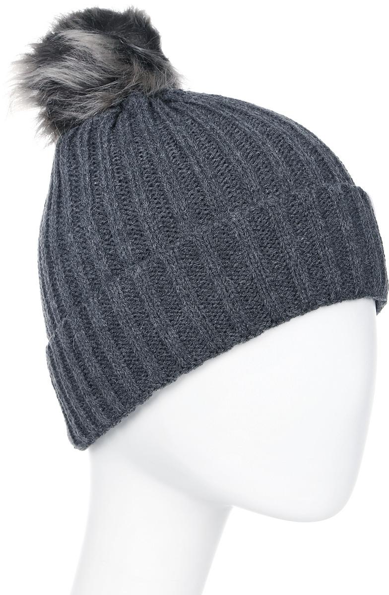Шапка женская Icepeak, цвет: темно-серый. 855812578IV-817. Размер универсальный