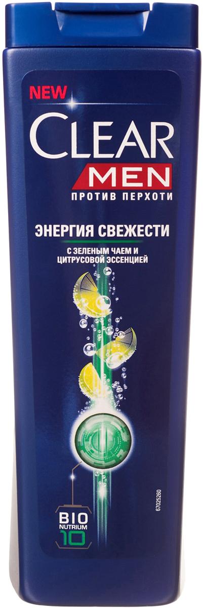 Clear Men Шампунь против перхоти Энергия свежести 200 мл05184504Созданный специально для мужчин Шампунь Энергия свежести с цитрусовой эссенцией дает свежесть волосам и коже головы на весь день. Комплекс Nutrium 10, входящий в состав шампуня — это насыщенная смесь 10 питательных веществ и растительных активных компонентов. При регулярном применении он активирует естественный защитный слой против перхоти кожи головы, позволяя вам гарантированно защищаться от перхоти.