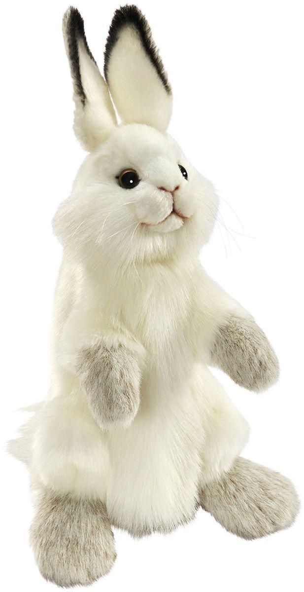 Фото Hansa Мягкая игрушка на руку Кролик цвет белый 34 см