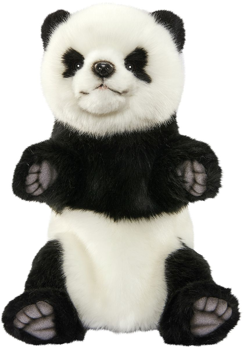 Hansa Мягкая игрушка на руку Панда 30 см hansa мягкая игрушка панда hansa 25см