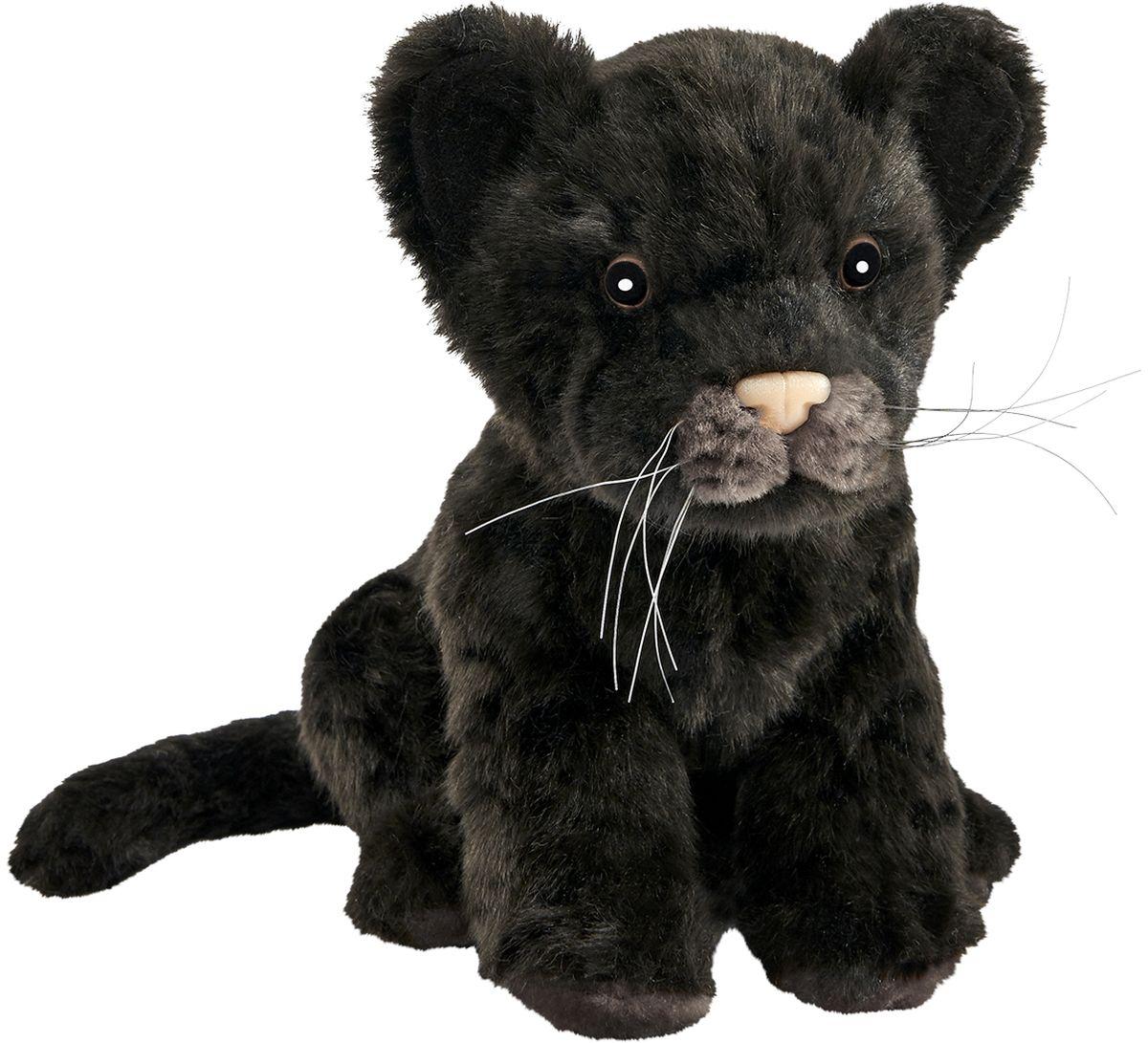 Hansa Мягкая игрушка Детеныш ягуара цвет черный 17 см
