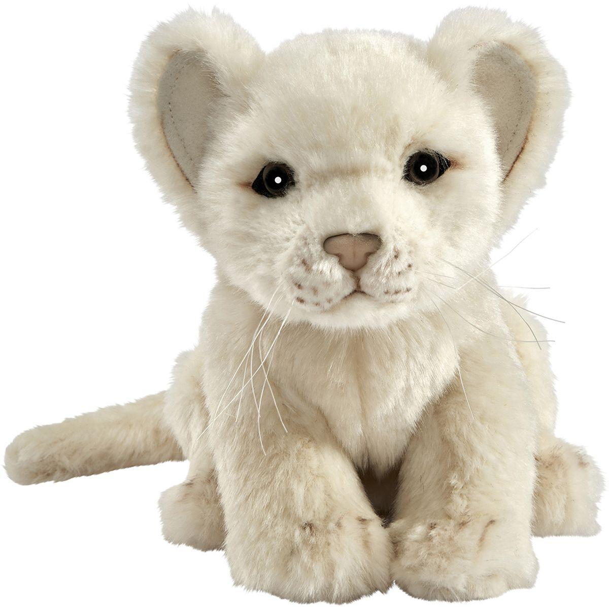 Hansa Мягкая игрушка Львенок цвет белый 17 см
