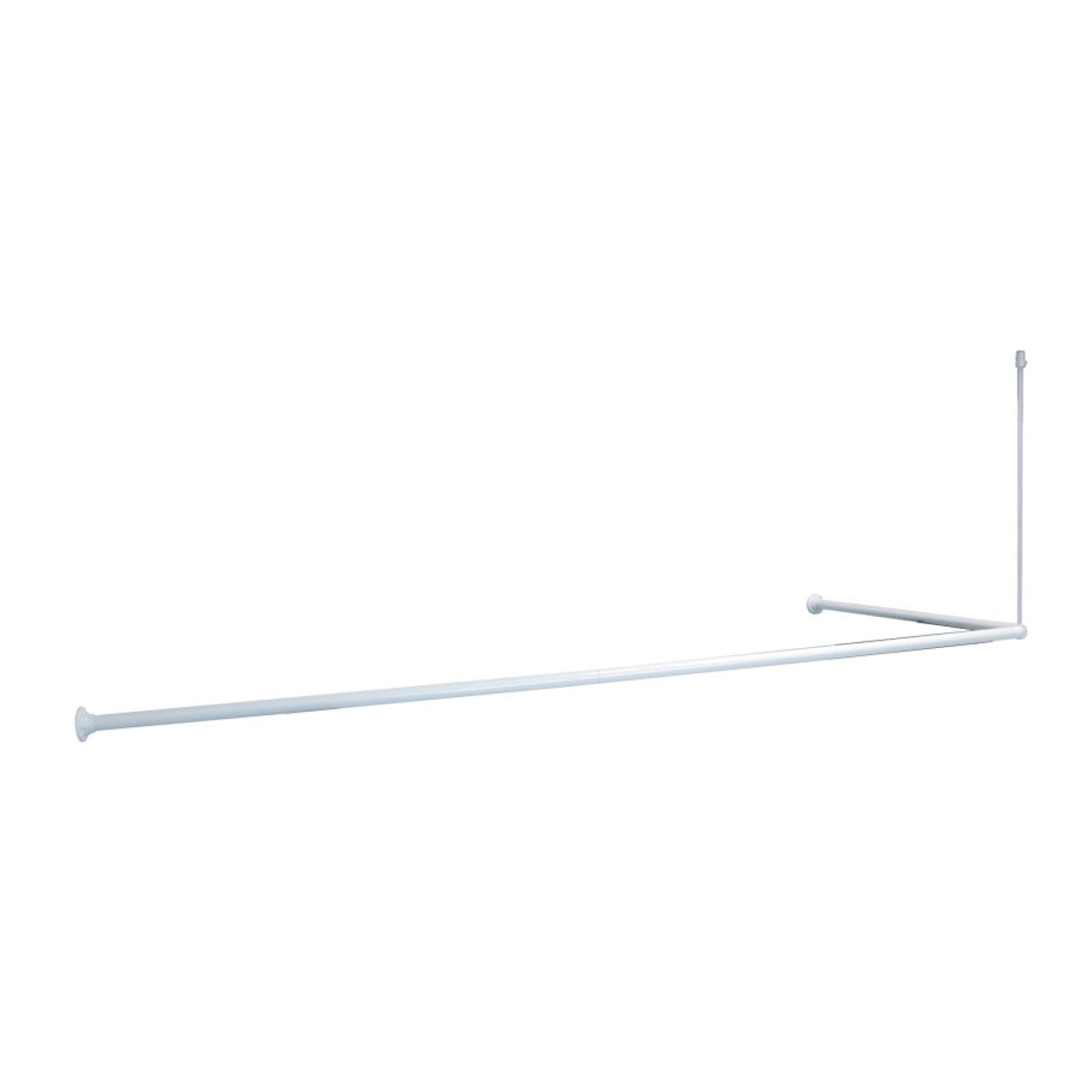 Карниз для ванной Iddis, угловой, цвет: белый040A200I14Угловой 90*90*90(90*180)см, покрытый белым ПВХ, алюминиевый карниз. Диаметр трубки 25мм, толщина трубки 0,5мм, с креплением к потолку