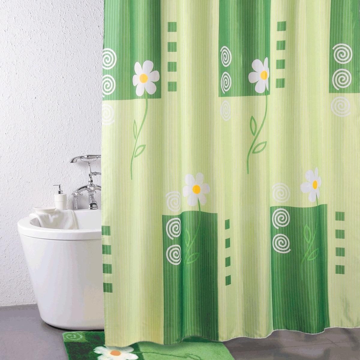 Штора для ванной Iddis Summer Day, цвет: зеленый, 180 x 200 см140P200i11Штора для ванной комнаты Iddis выполнена из быстросохнущего материала - 100% полиэстера, что обеспечивает прочность изделия и легкость ухода за ним.Материал шторы пропитан специальным водоотталкивающим составом Waterprof.Изделие изготовлено из экологически-чистого материала, оно обладает высокой степенью гигиеничности, не вызывает аллергических реакций.Штора имеет 12 металлических люверсов. В комплекте: штора и кольца с системой Click.