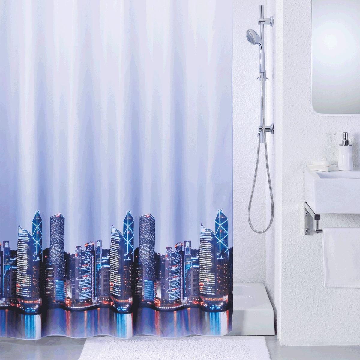 Штора для ванной Iddis City, цвет: фиолетовый, 200 x 240 см210P24RI11Штора для ванной комнаты Iddis выполнена из быстросохнущего материала - 100% полиэстера, что обеспечивает прочность изделия и легкость ухода за ним.Материал шторы пропитан специальным водоотталкивающим составом Waterprof.Изделие изготовлено из экологически-чистого материала, оно обладает высокой степенью гигиеничности, не вызывает аллергических реакций.Штора имеет 12 металлических люверсов. В комплекте: штора и кольца с системой Click.