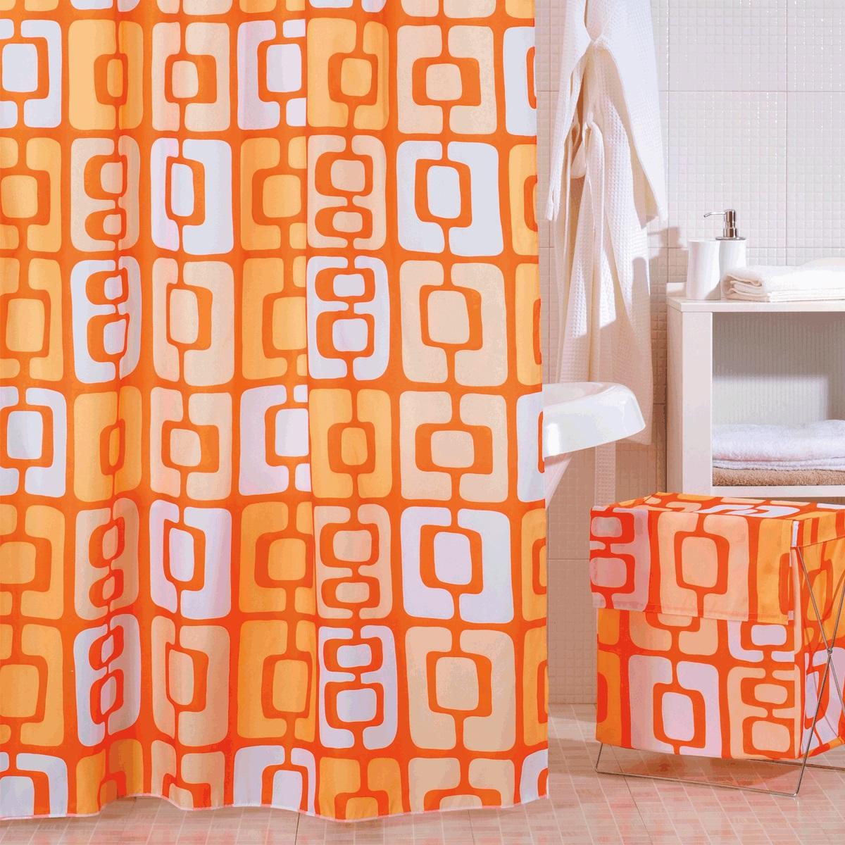 Штора для ванной Iddis Orange Toffee, цвет: оранжевый, 200 x 240 см280P24RI11Штора для ванной комнаты Iddis выполнена из быстросохнущего материала - 100% полиэстера, что обеспечивает прочность изделия и легкость ухода за ним.Материал шторы пропитан специальным водоотталкивающим составом Waterprof.Изделие изготовлено из экологически-чистого материала, оно обладает высокой степенью гигиеничности, не вызывает аллергических реакций.Штора имеет 12 металлических люверсов. В комплекте: штора и кольца с системой Click.