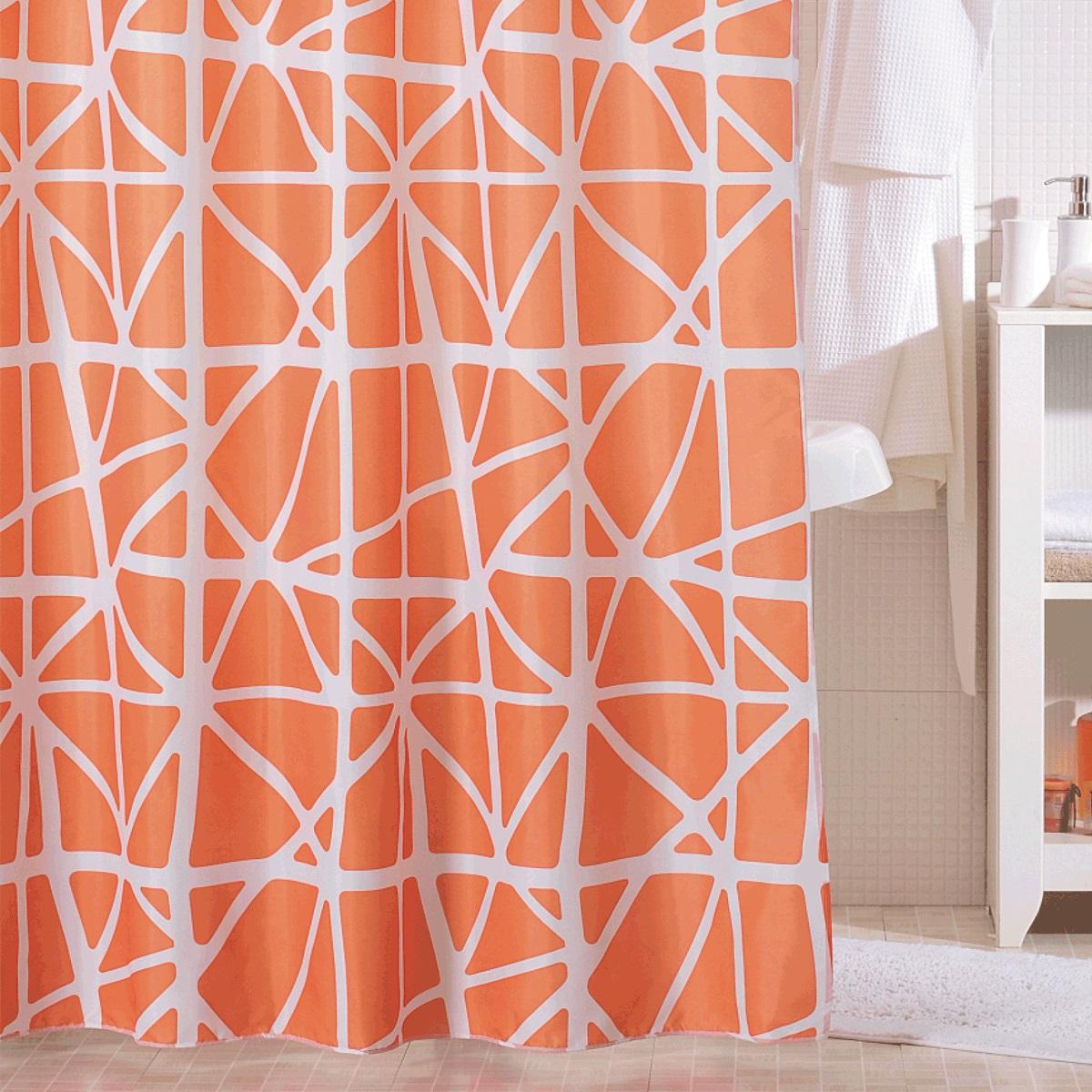 Штора для ванной Iddis Orange Nest, цвет: оранжевый, 200 x 200 см330P20RI11Штора для ванной комнаты Iddis выполнена из быстросохнущего материала - 100% полиэстера, что обеспечивает прочность изделия и легкость ухода за ним.Материал шторы пропитан специальным водоотталкивающим составом Waterprof.Изделие изготовлено из экологически-чистого материала, оно обладает высокой степенью гигиеничности, не вызывает аллергических реакций.Штора имеет 12 металлических люверсов. В комплекте: штора и кольца.