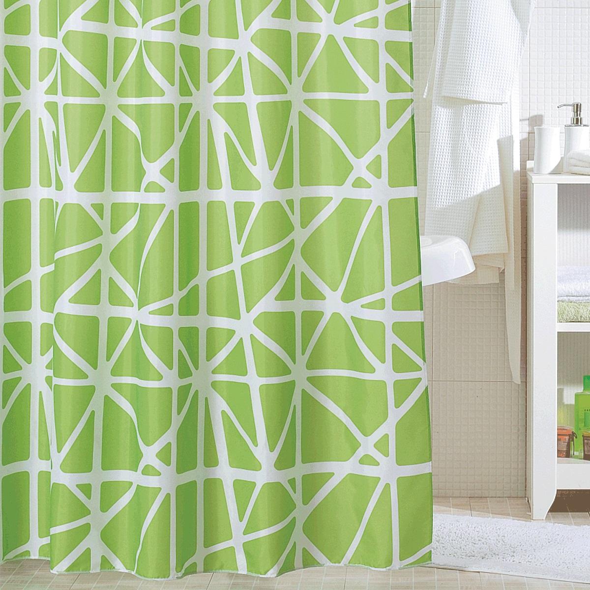 Штора для ванной Iddis Green Nest, цвет: зеленый, 200 x 200 см331P20RI11Штора для ванной комнаты Iddis выполнена из быстросохнущего материала - 100% полиэстера, что обеспечивает прочность изделия и легкость ухода за ним.Материал шторы пропитан специальным водоотталкивающим составом Waterprof.Изделие изготовлено из экологически-чистого материала, оно обладает высокой степенью гигиеничности, не вызывает аллергических реакций.Штора имеет 12 металлических люверсов. В комплекте: штора и кольца.