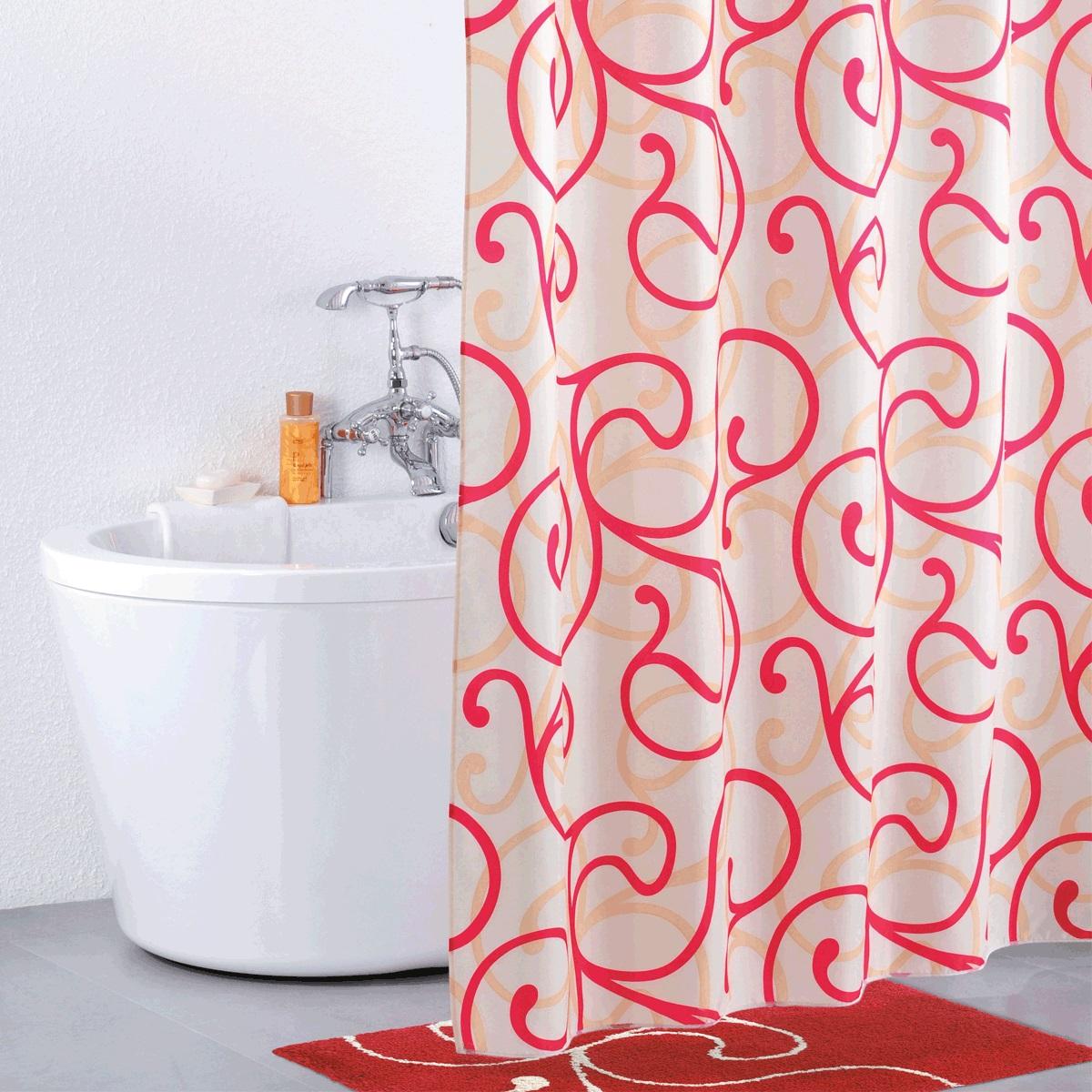 Штора для ванной Iddis Flower Lace Red, цвет: белый, красный, 200 x 200 см411P20RI11Штора для ванной комнаты Iddis выполнена из быстросохнущего материала - 100% полиэстера, что обеспечивает прочность изделия и легкость ухода за ним.Материал шторы пропитан специальным водоотталкивающим составом Waterprof.Изделие изготовлено из экологически-чистого материала, оно обладает высокой степенью гигиеничности, не вызывает аллергических реакций.Штора имеет 12 металлических люверсов. В комплекте: штора и кольца.