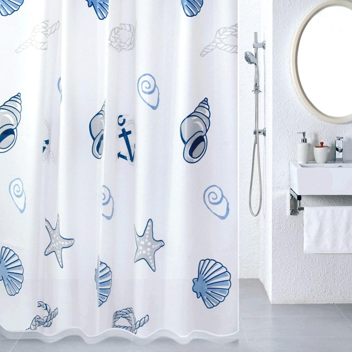 Штора для ванной Milardo Sea Fantasy, цвет: мультиколор, 180 x 180 см питательная ароматическая эссенция 15 мл decleor decleor mp002xw0iufk