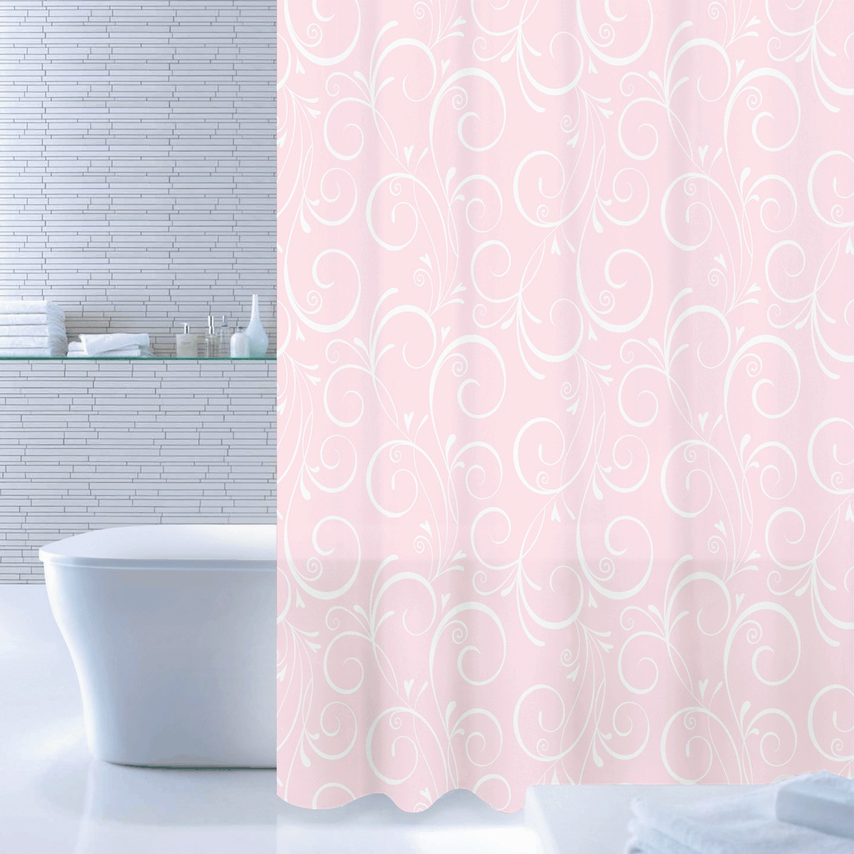 Штора для ванной Iddis Breeze Totem, цвет: бледно-розовый, 180 x 200 см530P18Ri11Штора для ванной комнаты Iddis выполнена из быстросохнущего материала - 100% полиэстера, что обеспечивает прочность изделия и легкость ухода за ним.Материал шторы пропитан специальным водоотталкивающим составом Waterprof.Изделие изготовлено из экологически-чистого материала, оно обладает высокой степенью гигиеничности, не вызывает аллергических реакций.Штора имеет 12 металлических люверсов. В комплекте: штора и кольца.